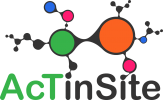 AcTinSite logo, which shows a network of interconnected nodes