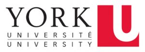 York Univeristy Logo. York Universite/University with a red square with a U on the right side.
