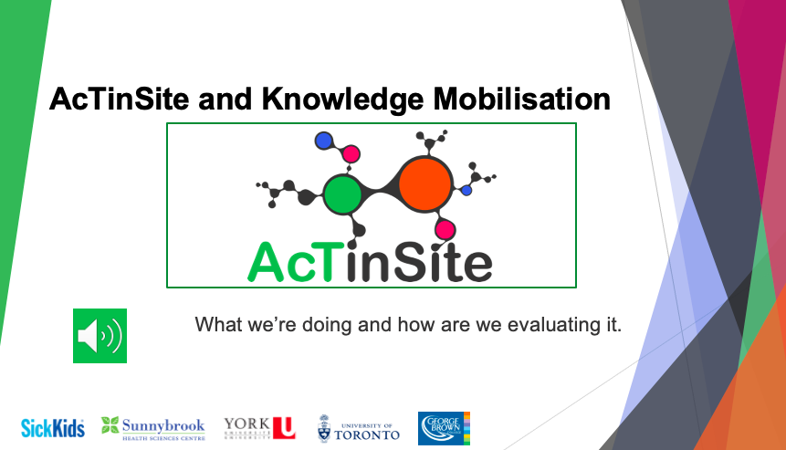 Image of the 1st slide of the Knowledge Mobilisation PowerPoint